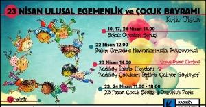 KADIKÖY'DE 23 NİSAN EĞLENCESİ SÜRÜYOR