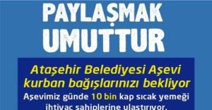 Ataşehir, Aşevi kurban bağışlarınızı bekliyor
