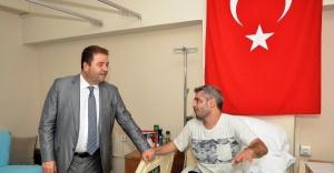 Başkan Ali Kılıç'tan 15 Temmuz gazisine ziyaret