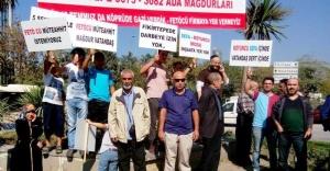 Fikirtepe'de 'kentsel dönüşüm' protestosu
