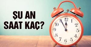 Şu an tam olarak saat kaç?