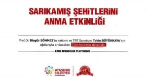 SARIKAMIŞ ŞEHİTLERİ ATAŞEHİR'DE ANILIYOR