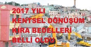2017 YILI KENTSEL DÖNÜŞÜM KİRA BEDELLERİ BELLİ OLDU