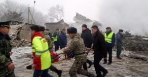 Kırgızistan'da Türk kargo uçağı düştü!