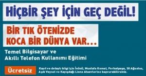 Ataşehir'de Temel Bilgisayar ve Akıllı Telefon Kullanımı Eğitimi
