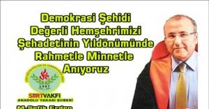 Şehit Savcı Mehmet Selim Kiraz'ı Rahmetle Anıyoruz