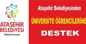 Ataşehir Belediyesinden Üniversite öğrencilerine destek