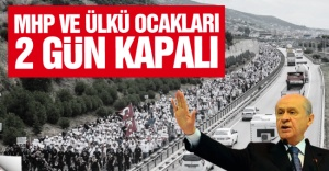 İstanbul'da MHP ilçe başkanlıkları ve Ülkü Ocakları 2 gün kapalı