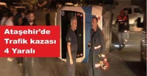 Ataşehir'de Trafik Kazası, 4 yaralı