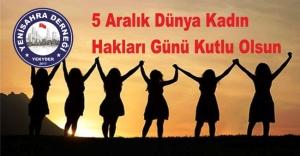 5 Aralık Dünya Kadın Hakları Günü Kutlu Olsun