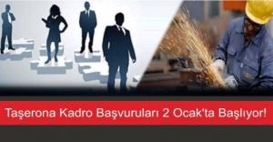Taşerona Kadro Başvuruları 2 Ocak'ta Başlıyor!