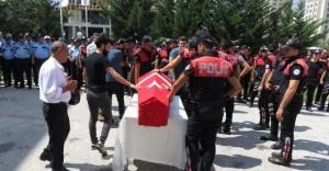 Polis memuru Mücahit Örs son yolculuğuna uğurlandı