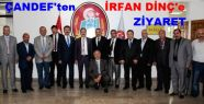ÇANDEF, Çankırı Belediye Başkanı İrfan Dinç'i Ziyaret Etti