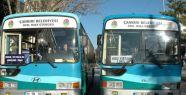 Çankırı'da Belediye Otobüsleri Bayramda...