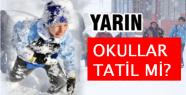 İstanbul'da 20 Şubat Cuma günü okullar...