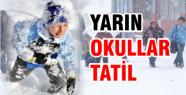 İstanbul'da yarın okullar tatil