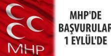 MHP ADAYLIK BAŞVURULARI 1 EYLÜL'DE BAŞLIYOR!