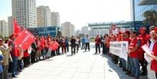 Ataşehir Belediyesi çalışanları 1 Mayıs için toplandı