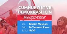 CHP Pazar günü Taksim Meydanı'nda miting düzenleyecek