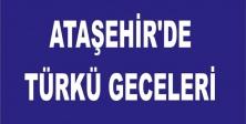 ATAŞEHİR'DE TÜRKÜ GECELERİ