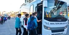 Maltepe'de Ücretsiz okul servisi 4. yılında