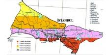 İstanbul'da  fay hattına en yakın ilçeler