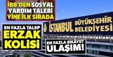İBB'YE SOSYAL YARDIM TALEBİ YİNE İLK SIRADA