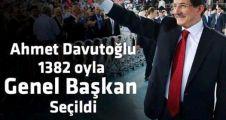 Ahmet Davutoğlu, AK Parti Genel Başkanı Seçildi.