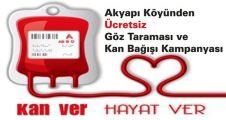 Akyapı Köyünden Ücretsiz Göz Taraması ve Kan Bağışı Kampanyası