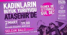 Kadınlar 8 Mart'ı  Ataşehir'de kutluyor