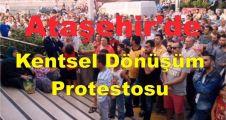 Ataşehir'de  'Kentsel dönüşüm' protestosu