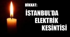 İstanbul'da Elektrik Kesintsi