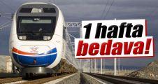 Yüksek Hızlı Tren Konya-İstanbul arası bir hafta ücretsiz