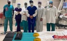 Koronavirüs kalkanı ilk kez bir ameliyatta kullanıldı