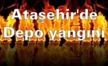 Ataşehir'de depo yangını