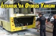 Ataşehir'de otobüs alev alev yandı