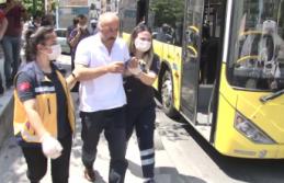 Ataşehir'de HES kodu olmayan yolcu, otobüs...
