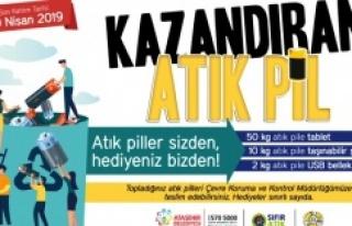ATAŞEHİR'DE ATIK PİLLER KAZANDIRIYOR