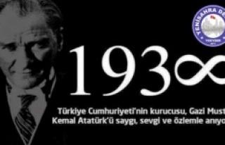 Gazi Mustafa Kemal Atatürk'ü Saygı ve rahmetle...