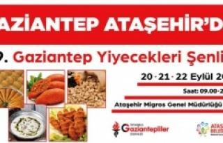 GAZİANTEP YİYECEKLERİ ŞENLİĞİ ATAŞEHİR'DE...