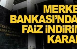 Merkez Bankası faizi 50 baz puan indirdi
