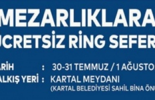 KARTAL'DA MEZARLIKLARA ÜCRETSİZ ULAŞIM