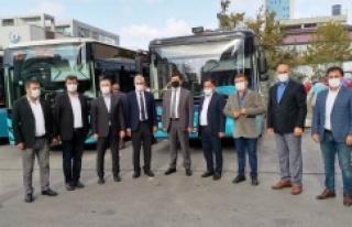 Ataşehir'de Özel Halk Otobüsleri korona virüse...