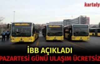 İBB: Yarın toplu ulaşım ücretsiz