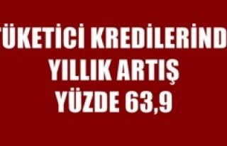 TÜKETİCİ KREDİLERİNDE YILLIK ARTIŞ YÜZDE 63,9