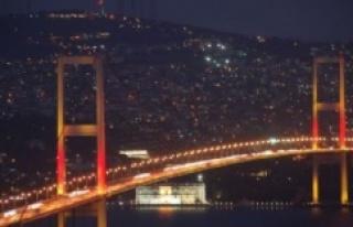 KAÇUV 15 Şubat'ta Köprüleri Sarı Işıkla Renklendiriyor