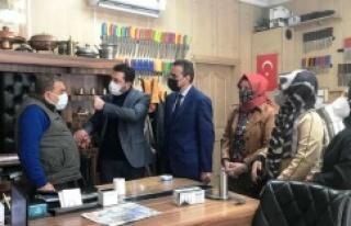 Ataşehir teşkilatı, 17 mahallede eş zamanlı ziyaretler...