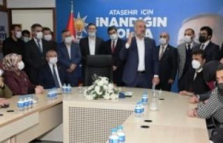 Osman Nuri Kabaktepe, AK Parti Ataşehir İlçe teşkilatını...