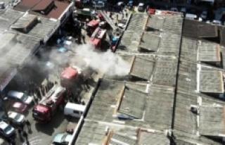 Ataşehir'deki sanayi sitesinde yangın paniği