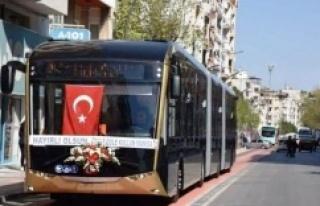 YERLİ ELEKTRİKLİ OTOBÜSLER MANİSA 'DA HİZMET...